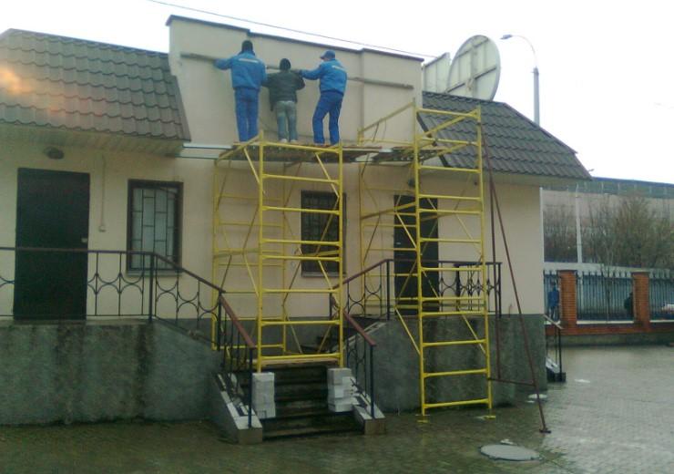 вышка-тура для фасадных работ